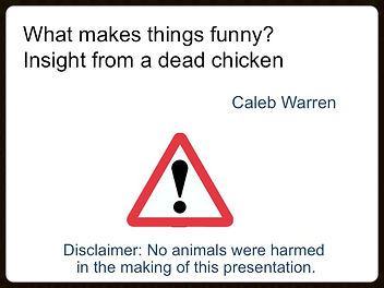 Humor Ted Talk by Caleb Warren at Bocconi University in 2013