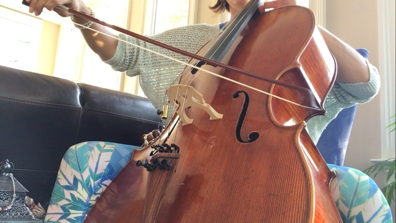 Live cello during savasana