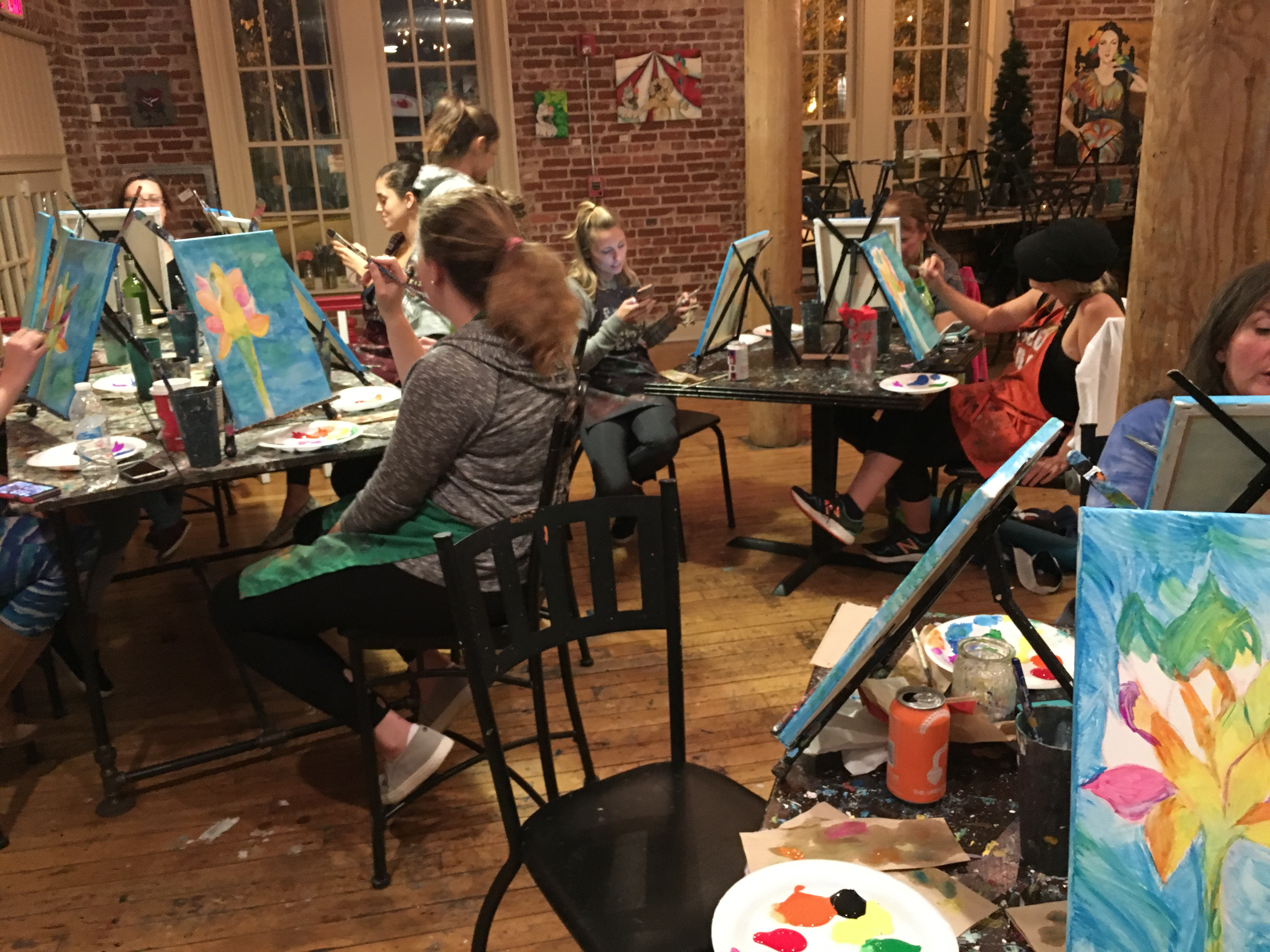 Yoga Paint & Pour @ Studio Cellar