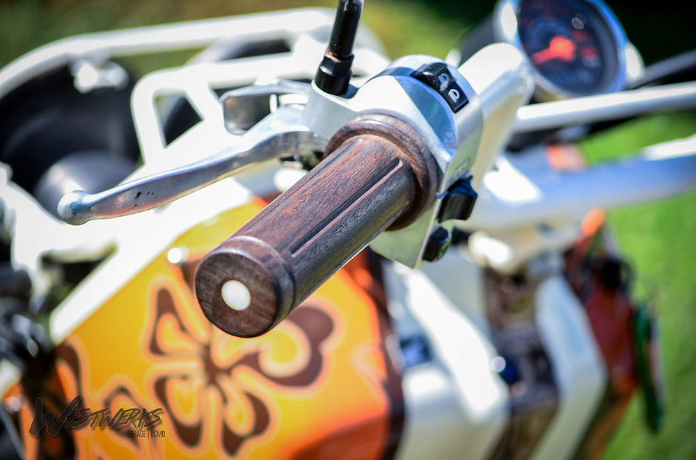 Wooden Hand Grips! Sure beats our wood...