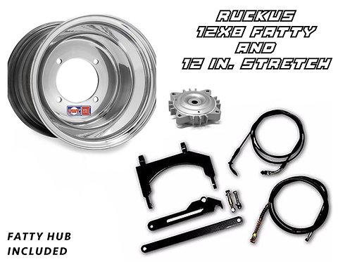 Honda Ruckus 12x8 Fatty Rim and Stretch Kit