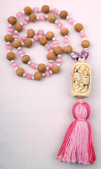Pink Mala Turtle Necklaces