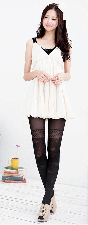 Rosy Garden Mock Thigh High Stockings