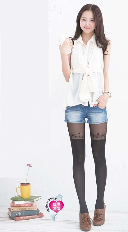 Musical Symphony Mock Thigh High Stockings