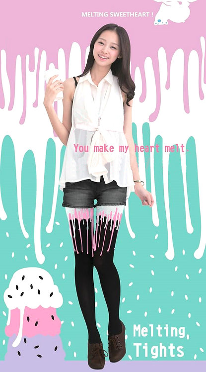 Confectionary Melting Tattoo Tights