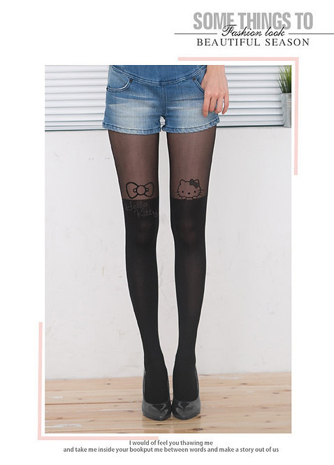 Peekaboo Hello Kitty Mock Thigh High Stockings
