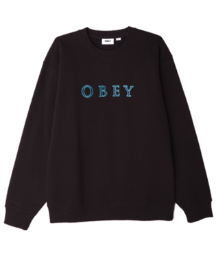 OBEY Curtis Crewneck (black and blue)