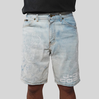 J-OH 1OF1 FLAME BOY JEAN SHORTS
