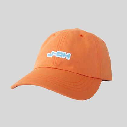 orange blue hat