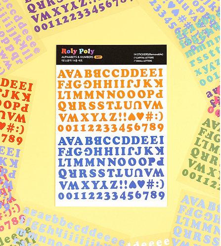 「PAPERIAN」ロリポリアルファベット数字ステッカー 14種セット