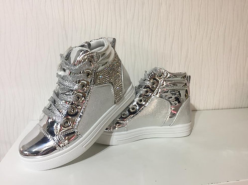 Silver Boot Sneakers