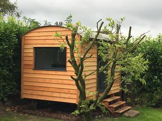 Cedar and Oak Shepherd Hut