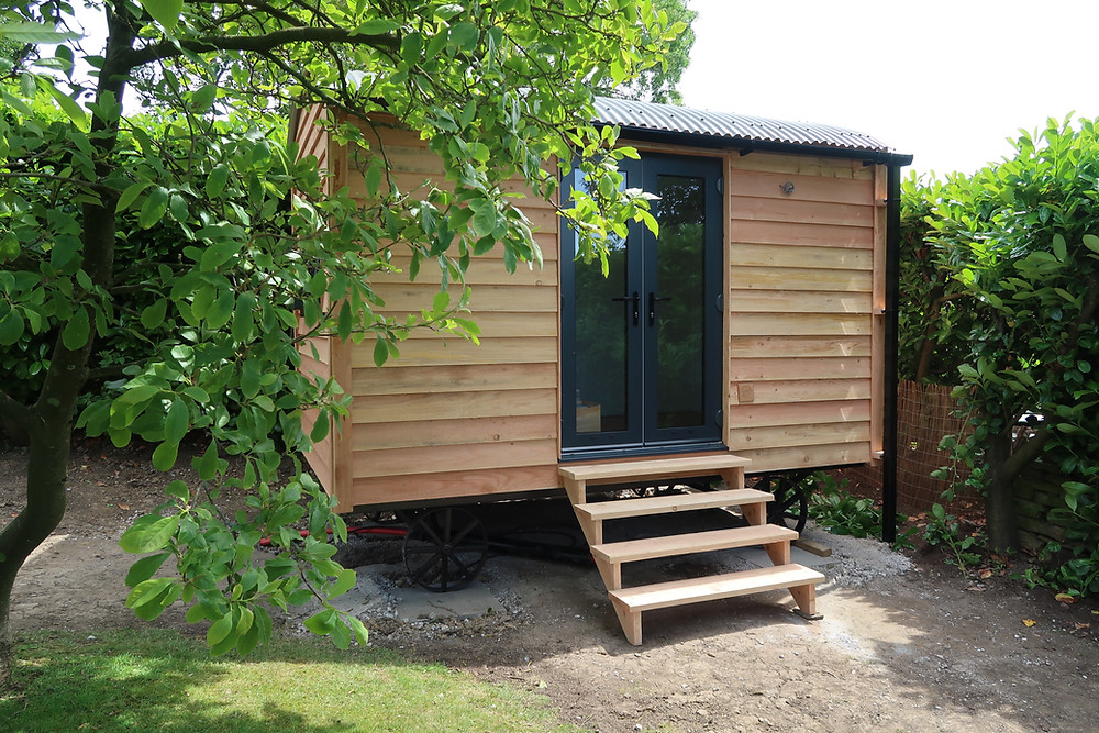 Garden office shepherd hut