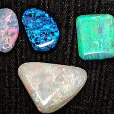 21. Crystal opals from White Cliffs, NSW