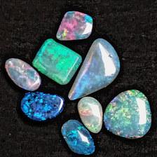 16. White Cliffs solid opals