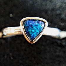 18. Handmade White Cliffs opal ring $150