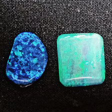 20. Blue/green opals from White Cliffs, NSW