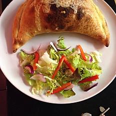 Calzone e funghi (folded pizza)