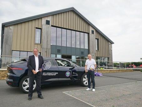 Sturgess Jaguar Leicester serves up tennis equipment to the Matt Hampson Foundation