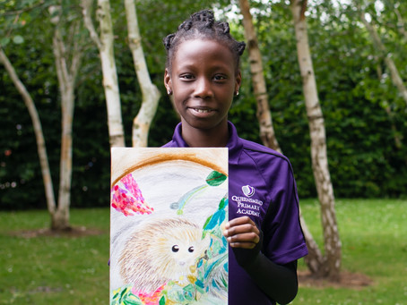 Primary school wins a customised graffiti mural after one of its pupils entered an art contest