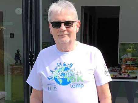 Local author goes barefoot for mental health charity 5km Around the World challenge