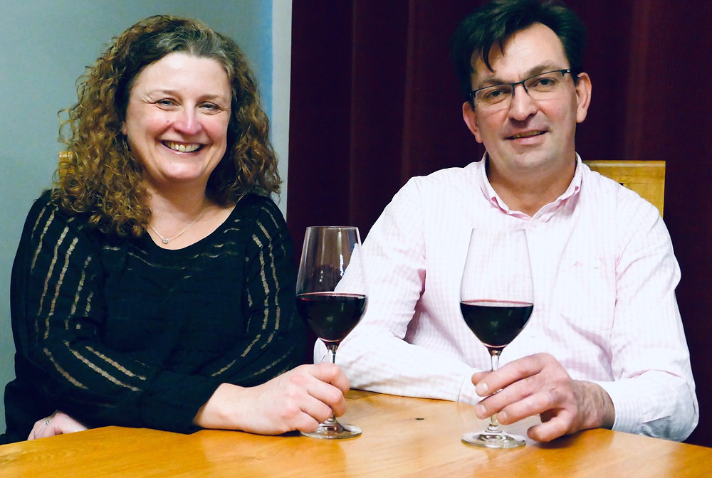 Founders and husband & wife, Claire & Lucas Swanepoel, toast the start of their new business.