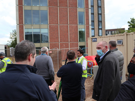 Back to school for Leicester College staff as they take part in major construction project