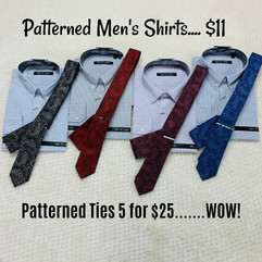 Patterned Dress Shirts $11