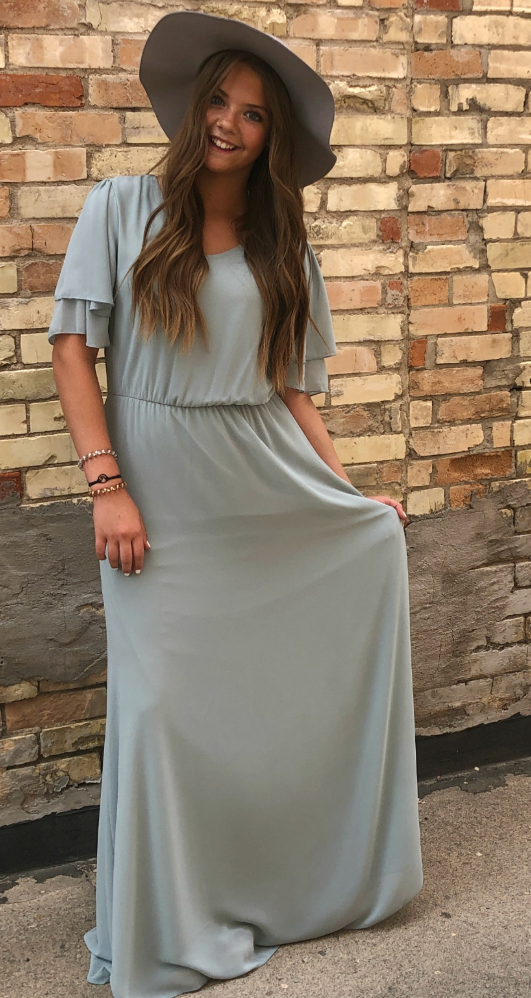 Chloe Chiffon Maxi Dress-Light Sage