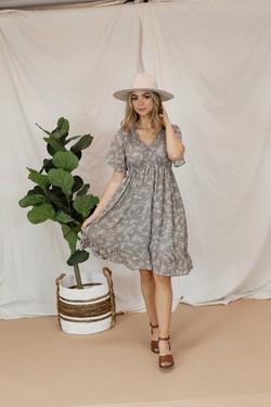 The Frances Dress-Dove Grey