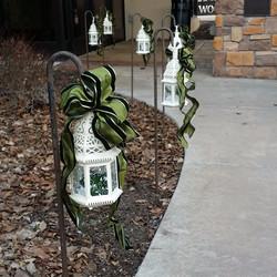 Lanterns on Shepherd Hooks