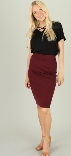 Raisin Pencil Skirt