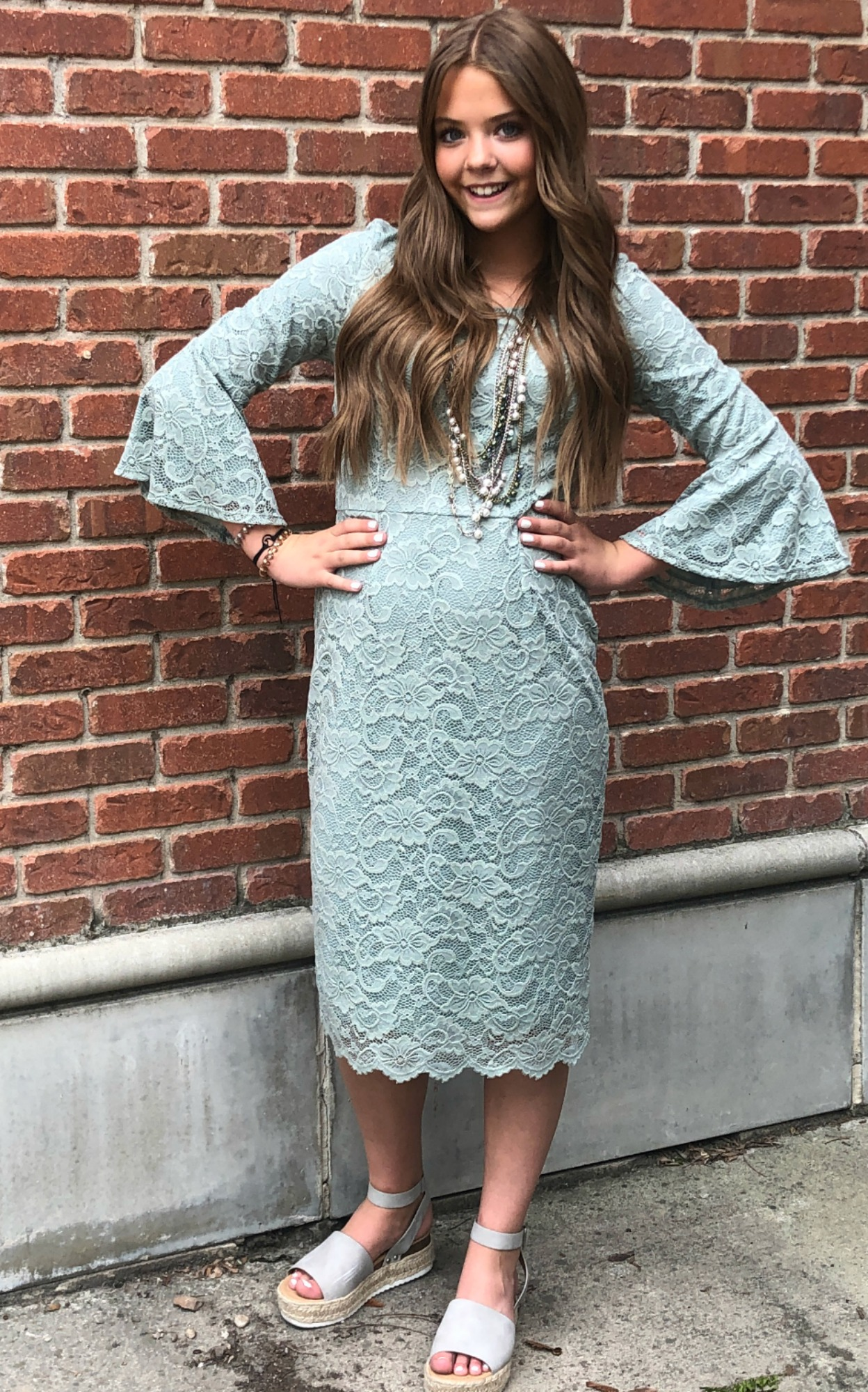 April Dress-Mint Sage