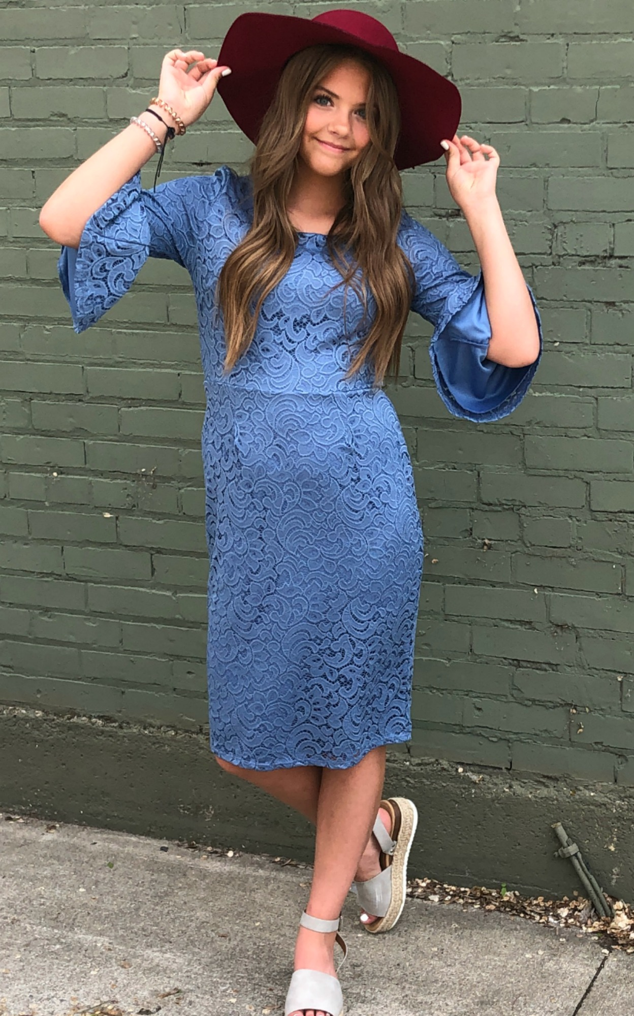 April Dress-Denim Blue