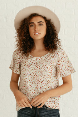 Champagne Small Floral Top