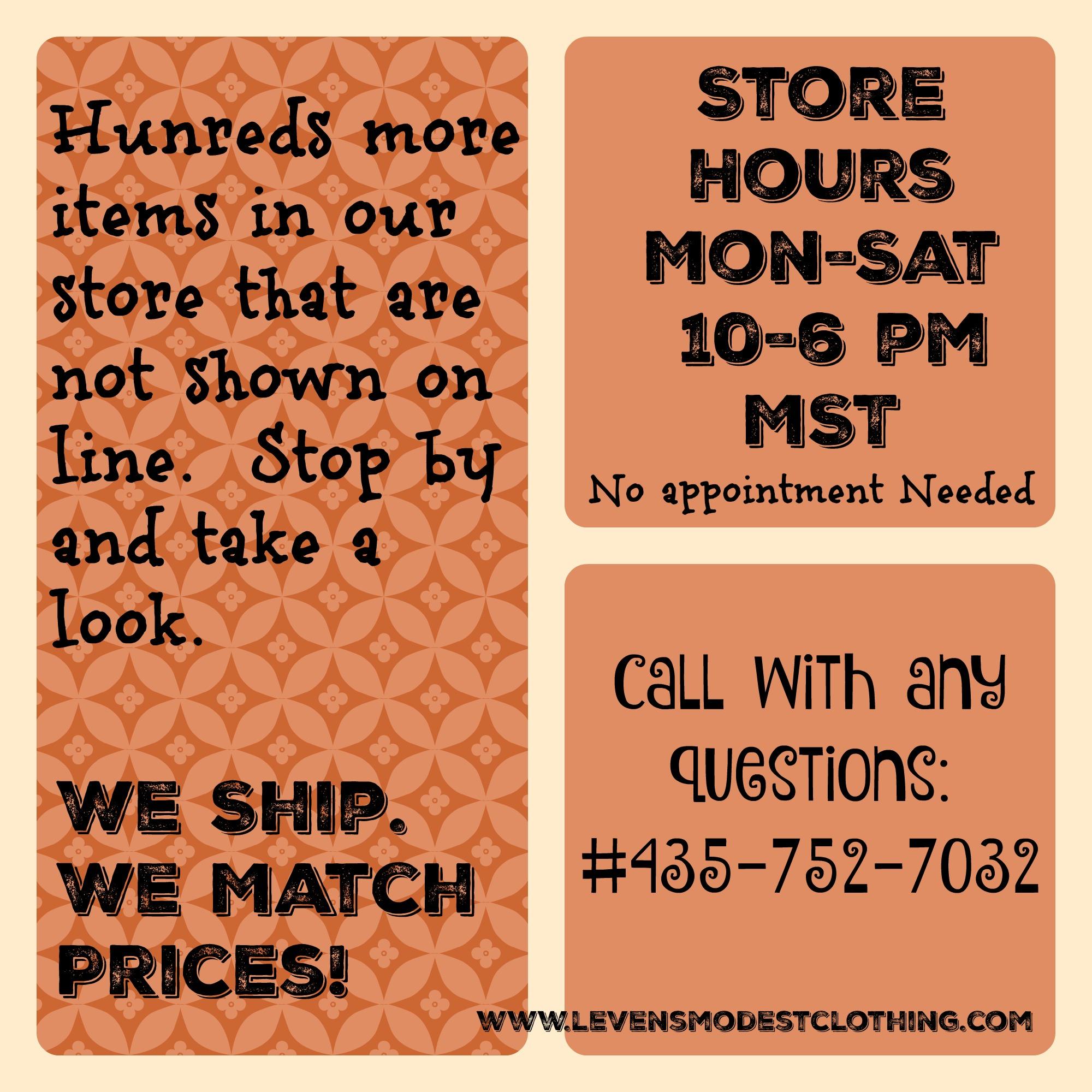 Store Info.