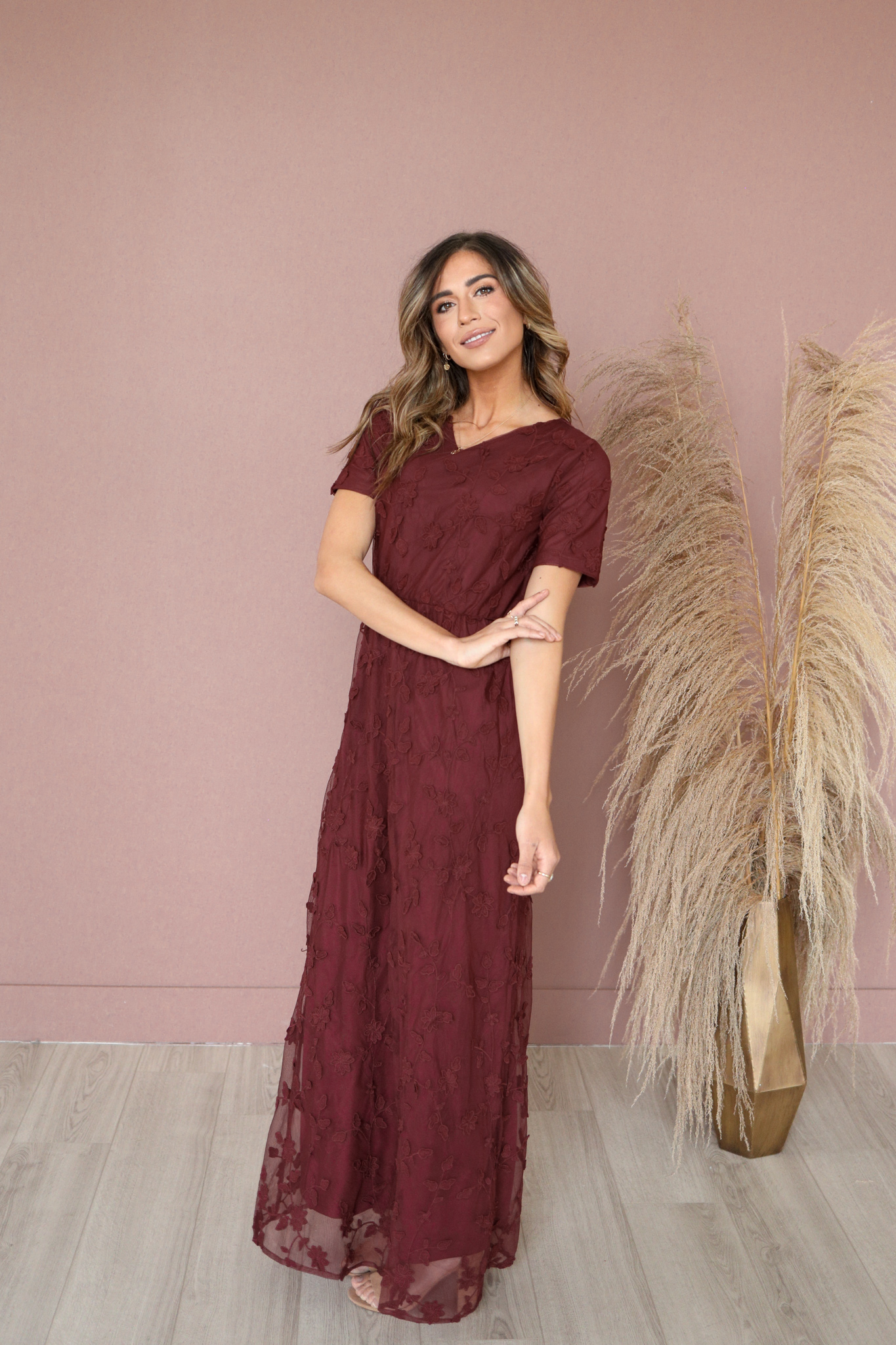 Kinsley Maxi Dress-Merlot