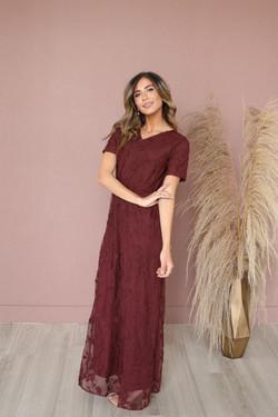 Kinsley Maxi Dress-Merlot