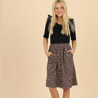 Mikarose Animal Print Skirt -MSF18202