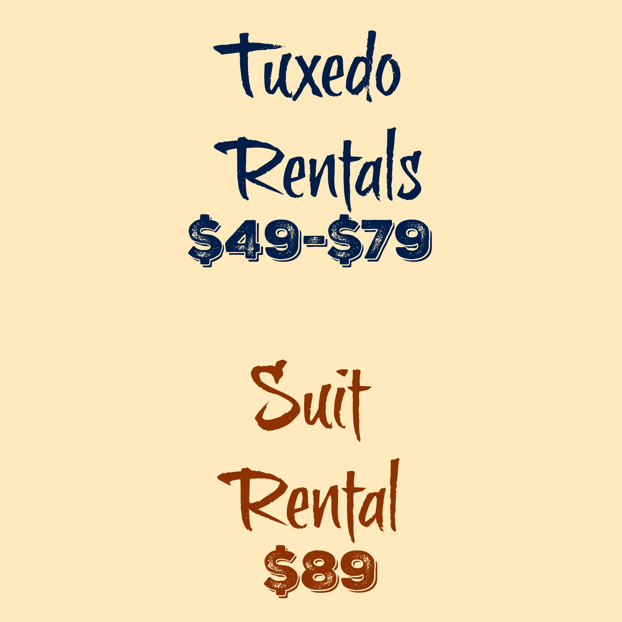 Tuxedo and Suit Rentals