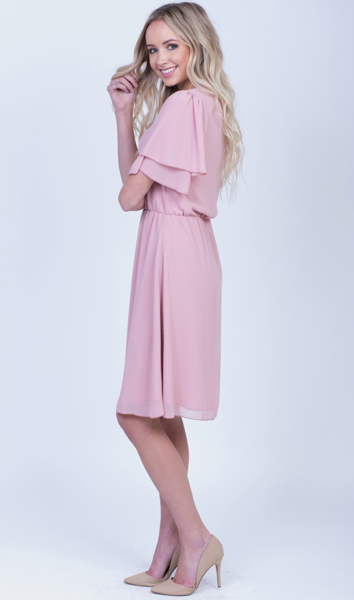 Claire Dress-Pink.