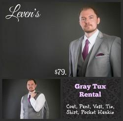 Gray Tux $79.