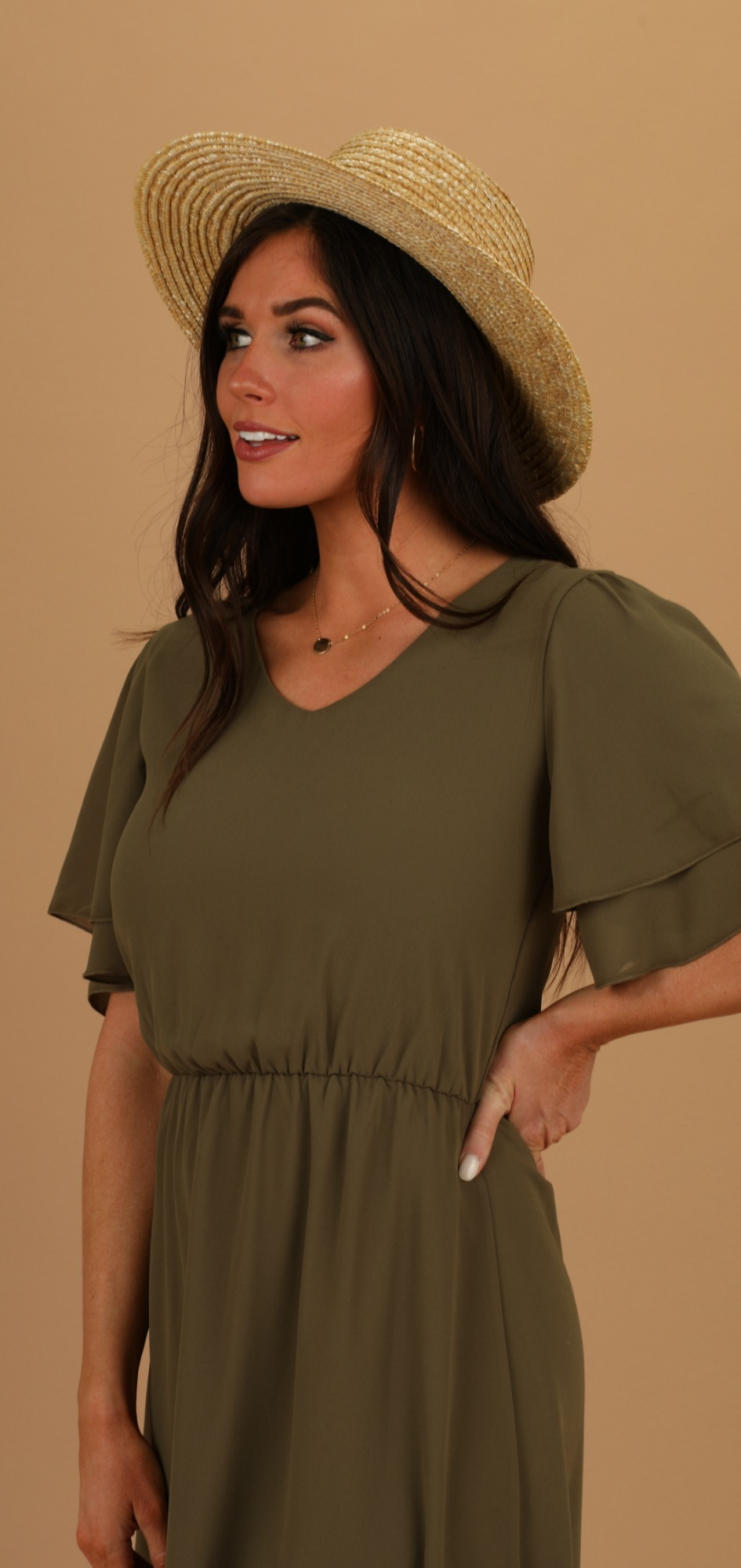 Claire Dress-Olive