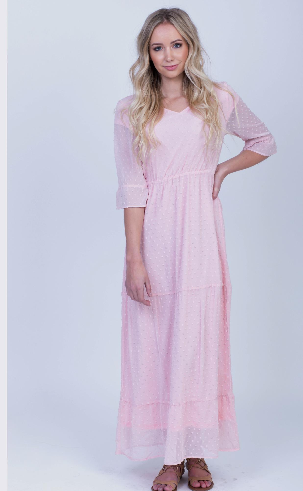 ccb98c557db McKenzie Maxi Dress-Pink Dot