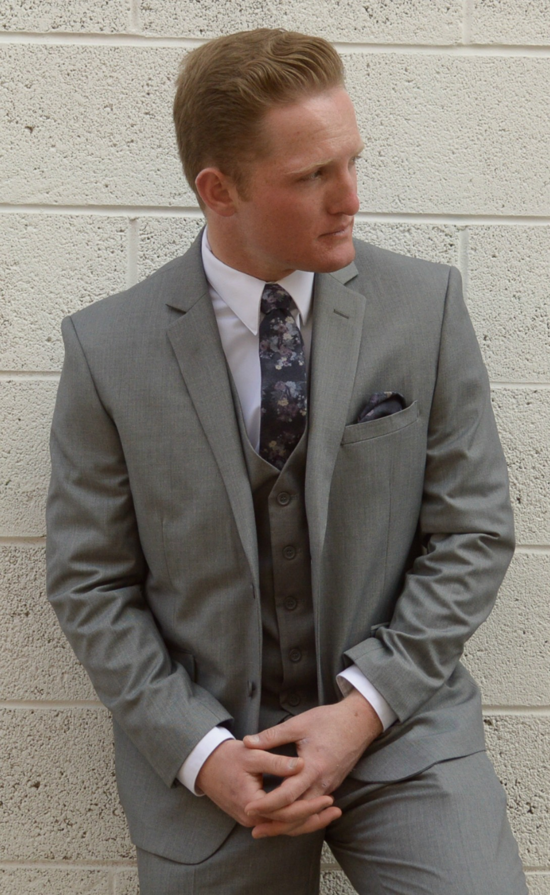 Gray Slim Suit