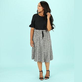 Mikarose Pleated Animal Print Skirt