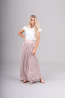 Mikarose Maxi Skirt-Swiss Dot