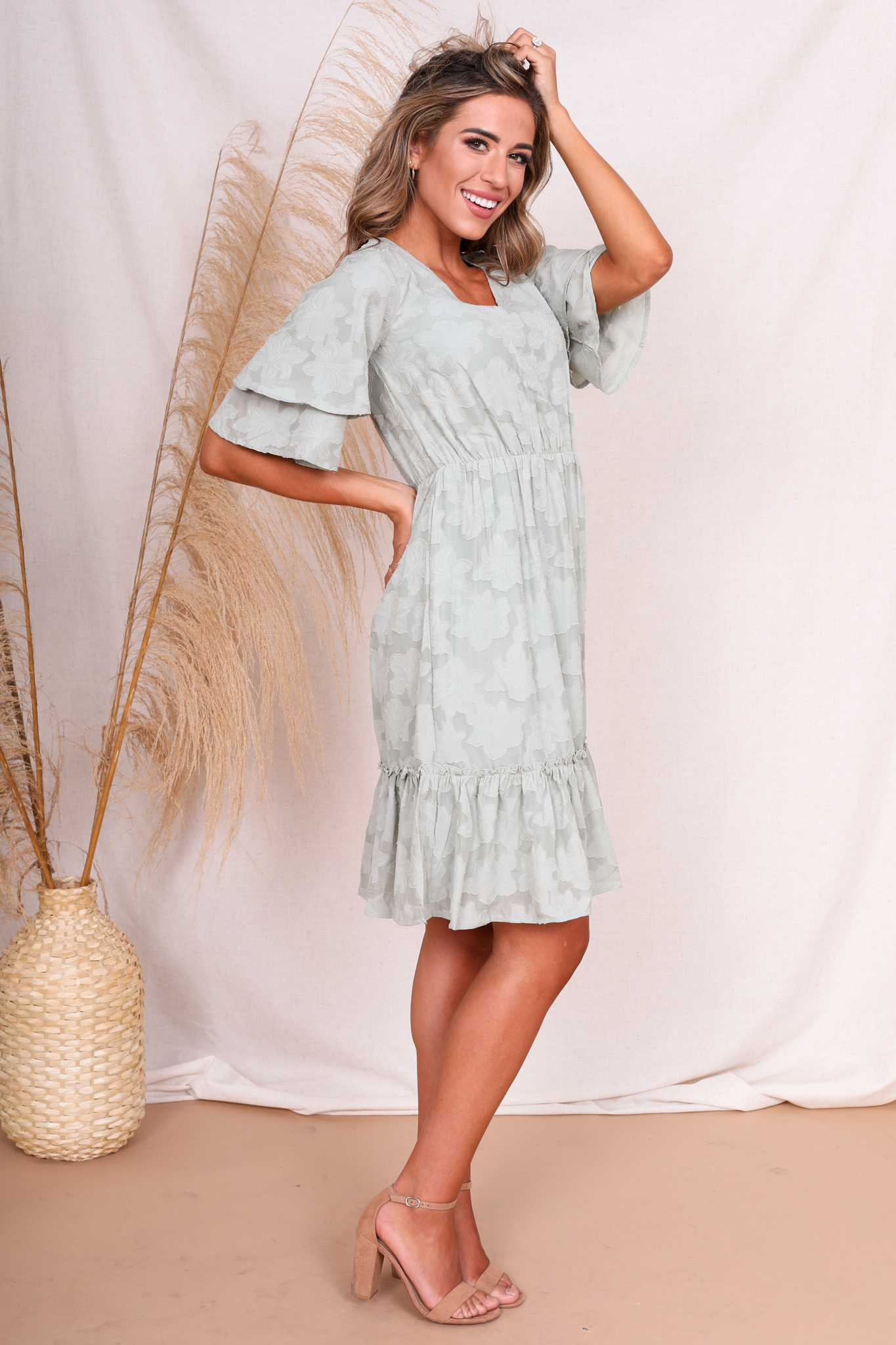 Magnolia Dress-Sage