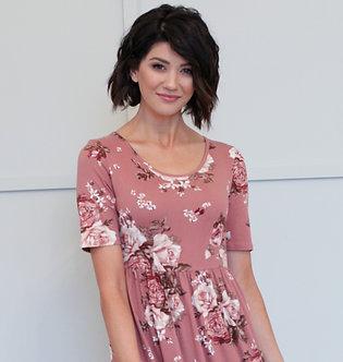 Mikarose Miranda Maxi Dress-Mauve Floral