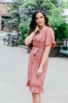 Skyler Dress-Ash Rose